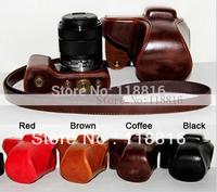 Free Shipping, camera case bag for Sony NEX-5 NEX-5R, NEX5R NEX-5R NEX-5RL NEX-5T 18-55 mm Lens 18-55mm Camera with Flash Slot