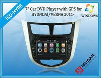 Two Din 7 Inch Car DVD Player For HYUNDAI/Verna/I25/Solaris 2011- With 3G Host GPS Bluetooth IPOD TV Radio RDS V-CDC Free Maps