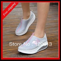 2014 new arrival HOT-SELLING  heel genuine leather  women's sneakers breathable and platform shoes for women