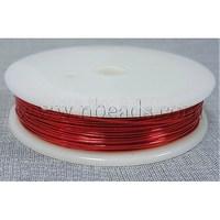 Copper Jewelry Wire,  DarkRed,  0.8mm; about 3m/roll