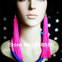 New Fashion Earrings Women's Jewelry Hip hop  Neon Tassel Long Drop Earring