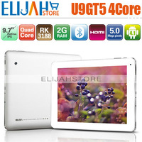 In Stock Cube U9GT5 RK3188 Quad Core tablet pc U9GTV 9.7'' Retina IPS 2048*1536 Android 4.1 2G/16G  Dual Camera Bluetooth HDMI