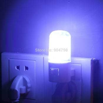 1 pcs Bedroom Night Lamp Light Plug Lighting AC 1W 4LED Wall Mounting YKS