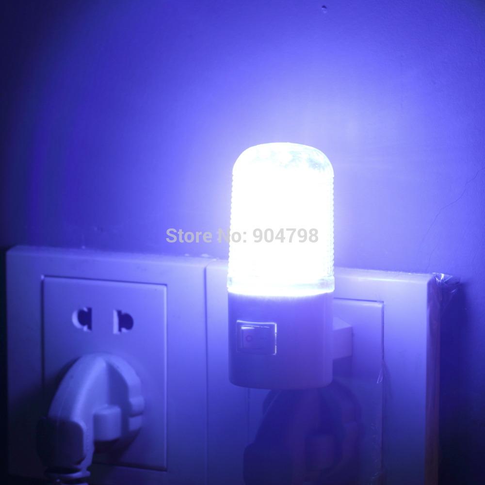 1 pcs Bedroom Night Lamp Light Plug Lighting AC 1W 4LED Wall Mounting YKS(China (Mainland))