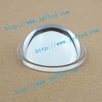 2pcs Free Shipping The high quality 44 mm LED optical glass lens LED flat convex lens with high light transmittance,