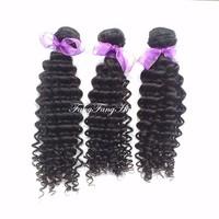 Virgin brazilian Curly hair 3pcs lot  human hair  brizilian virgin hair curly deep wave Free Shipping