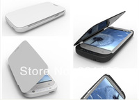 3200mAh External Backup Battery Leather Case Power bank for Samsung Galaxy S3 III i9300 with retail packing power bank charger