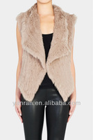 Promotion Free shipping YR-827 Top quality Real rabbit knitted fur gilet