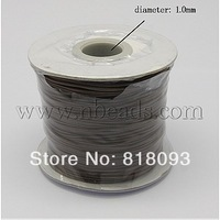 Korea Cotton Wax Cord,  Coffee,  Size: about 1mm thick; about 100yards/roll