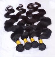ms lula hair  Peruvian Virgin Hair Body wave 4pcs lot guangzhou mocha hair weave beautiful queen hair shop  Free shiping