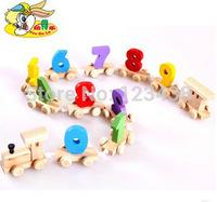 YouDeLe Children Wooden Math Educational Mathematics Digital Number Train Baby Toys Brinquedos Educativos ,1set=12pcs