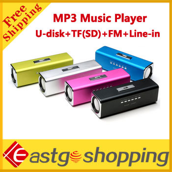 Cheap Mini Portable Speaker MP3 Music Player music Box with FM Radio U-Disk SD/TF Card Free shipping