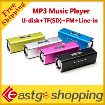 Cheap Mini Portable Speaker MP3 Music Player music Box with FM Radio U-Disk SD/TF Card Free shipping