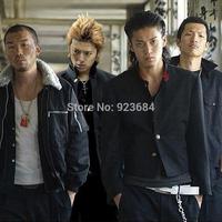 Jacket Men Street Wear Crows Zero Novelty Shun Oguri's Streetwear Jackets For Men  Includes Jacket & Pants