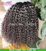 "Berrys Brazilian Virgin Kinky Curly Hair Super Soft 4pcs/lot Mix Length 12""-28"" Natural Color  Human Hair Extension"