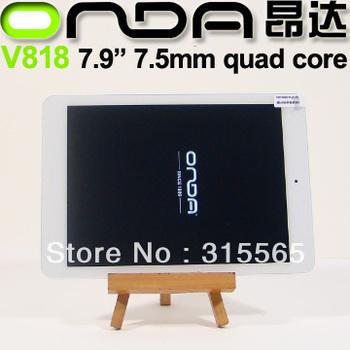 SG HK post free  7.9'' tablet PC Onda V818 mini Quad Core A31S ips 1024x768 pix 7.5mm thick 1G/16G Android 4.1  Dual camera