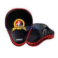 New Muay Thai MMA Boxing Kick Punch Pads Hand Target Focus Training Mitts Red