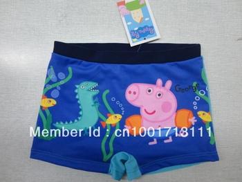 Free shipping George Pig peppa pig boy boys kids swimwear swimmer swim shorts trunks swimming bathers Design A1312