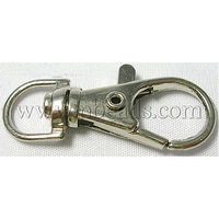 Alloy Swivel Lobster Claw Clasps,  Swivel Snap Hook,  Alloy Cheap Jewellery Findings,  Platinum Color,  about 13mm wide