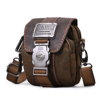 Free Shipping Designer Brand Multifunctional Canvas Waist Pack for Men Fashion Small Shoulder Messenger Bag (2 colors)