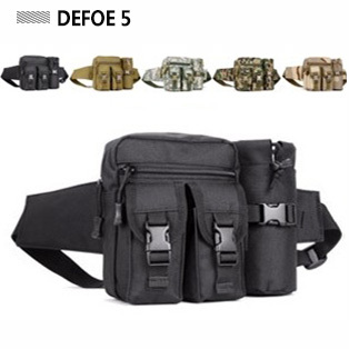Men fashion sports outdoor pocket 1000D nylon waist pack multi functional water bottle travel black bag,tactical gear wholesale(China (Mainland))