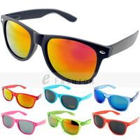Hot Sale! 2015 Fashion New Goggles Unisex Wayfarer New 80s Style Joint Multi-coloured Summer Shade UV400 Sunglasses 120-0001