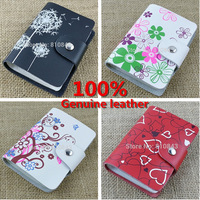 Free shipping 100% genuine leather credit name card holder ,Wholesale real cowhide leather card case 26