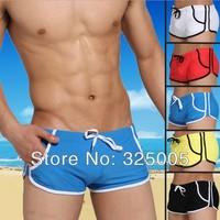 2014 Summer Newest men Swimwear sexy Male swimming trunks mens swimsuits swim boxers seobean  swimming boxers beach wear