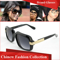 Germany Top designer brand eyewear glasses Cazal fashion sunglasses 607 polarized lens with plain mirror lens sunglasses