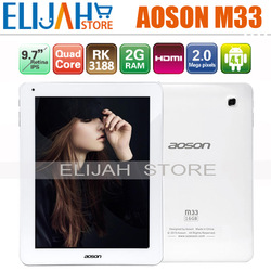 Best Price 9.7'' Aoson M33 RK3188 Quad Core tablet pc Retina IPS 2048*1536 2GB/16GB Android 4.1 Dual Camera HDMI Case Gift(China (Mainland))