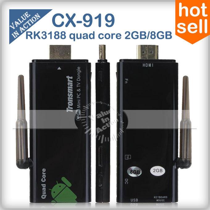 External Wifi Atenna Tronsmart CX-919 2GB RAM RK3188 Quad Core Mni PC Android TV Stick Dongle Box Bluetooth HDMI(China (Mainland))
