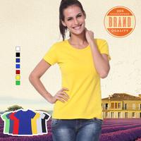 2014 Cheap Price 1001 Stylish O Neck Short Sleeve Ladies' T-Shirt 7 Colors-CN Free Shipping