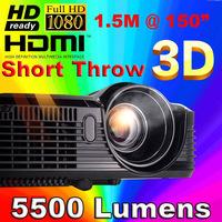 ATCO Short throw Daylight Portable Education Overhead DLP Projector 5200lumens HDMI Full HD 1080p Shuter 3D Video projectors