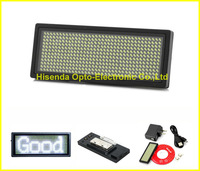White Scrolling Rechargeable LED Name Badge Russian LED Sign Board / Edit By PC / Message Advertising 10pieces/lot 80mm long