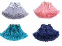 Baby girls fluffy chiffon pettiskirts tutu  Girl skirt Dance wear Christmas Birthday gift Party skirts  Free shipping