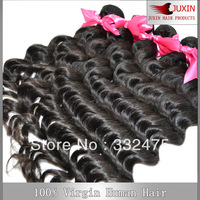 Mixed length 4pcs/lot  natural wave natural color hair weaving Indian virgin hair extension DHL FREE SHIPPING