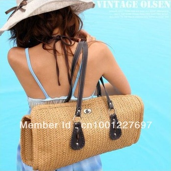Women's canvas bag Handbags fashion beach bags Tote Shoulder Bag fabric women's handbag Free drop ship