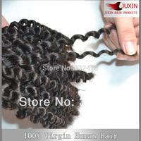 "Indian virgin  Human Hair 2pcs/Lot 3.5oz Kinky Curly Hair Extensions weave Natural Black 8""-32"" DHL FREE SHIPPING"