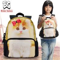 Free Shipping 12 inch backpack for school, Cat Printing school bags knapsack, cute Kids Bags, School Backpack Bags BBP-112S