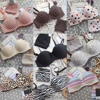 HOT New 2014 One-piece seamless bras push up bra set sexy underwear set women underwear bra brief sets 20 colors FREE SHIPPING