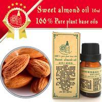 100% pure plant base oil Sweet almond oil 10ml Vitamin skin care moisturizing whitening Sensitive