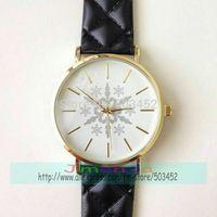 100pcs/lot Christmas Gift Snow Design Hot Sale No Logo Leather Watch Wrap Quartz Dress Ladies Watch Wholesale Casual Watch