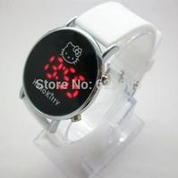 Electronic 2014 New Fashion Brand Children Digital Watches Men Women Dress Watches Silicone Led Hello Kitty Cartoon Watch Hot