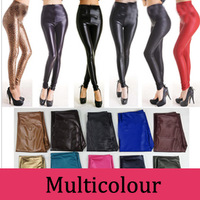 2014 Plus Size Faux Leather For Women High Waist Leather High-elastic Female Tight Leggings