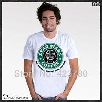 Free shipping Star Wars top lycra cotton men's short sleeve T-shirt Fashion Brand t shirt men 2013 new high quality