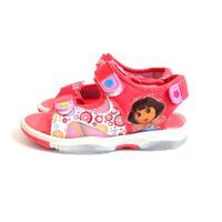 Dora Sandal 2014 New Summer Dora Flashing Light Beach Shoes Princess Look Hoop Brand Designer Children's sandals kids For Girl