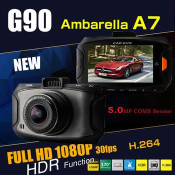 GS90  GS9000 upgrade  Car DVR video Recorder  registor vehicle driving Camera Ambarella A7 1080P Full HD 2.7'' LCD   dvrs