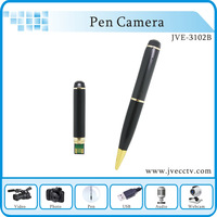Free Shipping 1280*720 hidden pen camera,HD hidden pen camera,Max 32GB MINI hidden pen camera webcam JVE3102B with retail box