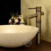 Free shipping [BECOLA] race mu high lever antique brass finish bathroom basin mixer tap faucet  GZ8025