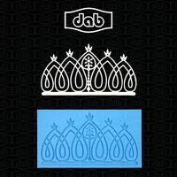 DAB silicone lace mold,Fondant Cake Decorating Tools,Silicone cake Mold,Cake lace silicone moulds TS40026